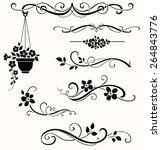 set of calligraphic dividers ...   Shutterstock .eps vector #264843776