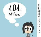 vector 404 error page not found.... | Shutterstock .eps vector #264847328