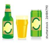 isolated blonde beer bottle ... | Shutterstock .eps vector #26484790