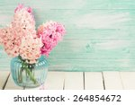 background with fresh pink ... | Shutterstock . vector #264854672