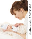 mother newborn baby family... | Shutterstock . vector #264858506