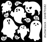 Scary Ghosts. Set.