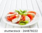 italian classic salad caprese... | Shutterstock . vector #264878222