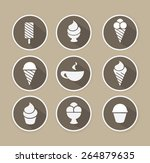 coffee and desserts icon | Shutterstock .eps vector #264879635