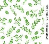 floral seamless vector pattern...   Shutterstock .eps vector #264884138