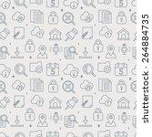 web line icon pattern set