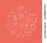 sport line icon circle set | Shutterstock .eps vector #264884762