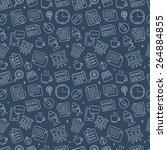 office line icon pattern set | Shutterstock .eps vector #264884855