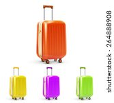 set of colored plastic travel... | Shutterstock .eps vector #264888908