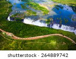 Victoria Falls Aerial Side Vie...