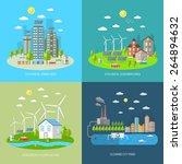 eco city design concept set... | Shutterstock .eps vector #264894632