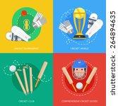 outdoor cricket game equipment... | Shutterstock .eps vector #264894635
