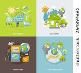 eco energy design concept set... | Shutterstock .eps vector #264894662