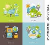 eco energy design concept set...   Shutterstock .eps vector #264894662