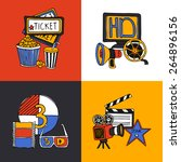 cinema retro film house tickets ...   Shutterstock .eps vector #264896156