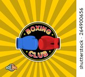 Постер, плакат: Boxing labels Boxing gloves
