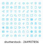 outline vector icons for web... | Shutterstock .eps vector #264907856