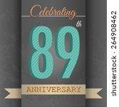 89th anniversary poster  ... | Shutterstock .eps vector #264908462