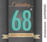68th anniversary poster  ... | Shutterstock .eps vector #264908585