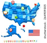map of usa | Shutterstock .eps vector #264909305