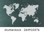 world map on blackboard | Shutterstock . vector #264910376