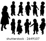 silhouette girls and boys  age... | Shutterstock .eps vector #2649107