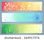 Vector Set Of Floral Banners....