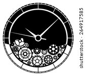 clock and gears illustration.... | Shutterstock .eps vector #264917585