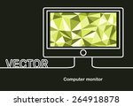 vector monitor icon and space... | Shutterstock .eps vector #264918878
