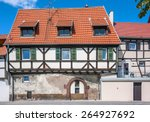 beautiful half timbered houses... | Shutterstock . vector #264927692