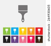 paint brush icon   vector | Shutterstock .eps vector #264930605