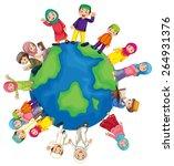 many muslim around the world | Shutterstock .eps vector #264931376