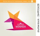 vector contest winner award... | Shutterstock .eps vector #264931628