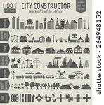 city map generator. elements... | Shutterstock .eps vector #264948152