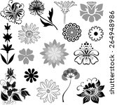floral collection | Shutterstock .eps vector #264948986