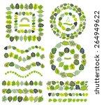 green leaves brushes pattern... | Shutterstock .eps vector #264949622