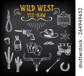 wild west design sketch. icons...   Shutterstock .eps vector #264949652