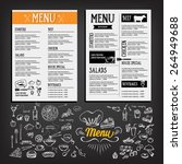 food menu  restaurant template... | Shutterstock .eps vector #264949688