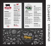 food menu  restaurant template... | Shutterstock .eps vector #264949712