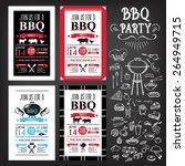 barbecue party invitation. bbq... | Shutterstock .eps vector #264949715