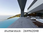 terrace of luxury house with... | Shutterstock . vector #264962048