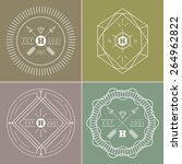 abstract hipster outline badges ... | Shutterstock .eps vector #264962822