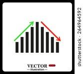 black frame on a white... | Shutterstock .eps vector #264964592