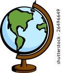 earth globe | Shutterstock .eps vector #26496649