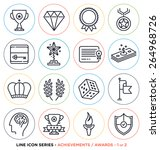 awards and achievements line... | Shutterstock .eps vector #264968726