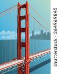 golden gate bridge | Shutterstock .eps vector #264969845