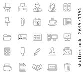 office line icons set.vector | Shutterstock .eps vector #264971195