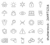 security line  icons set.vector | Shutterstock .eps vector #264971216