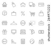 shopping line  icons set. vector | Shutterstock .eps vector #264971222