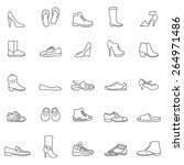 shoes line icons set. vector | Shutterstock .eps vector #264971486